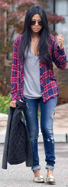 Fall Style: 20 Style Tips On How To Wear Flannel Shirts This F...