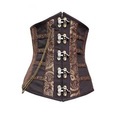 love that this is longer  CD-661 - Coffee and Gold Long Line Underbust - MADE TO ORDER - Back Order Sale Corsets - SALE