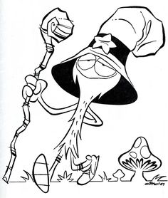 Wander Over Yonder by Craig McCracken Craig McCracken was the creative force behind such animated classics as The Powerpuff Girls and Foster's home for Imaginary Friends. His newest cartoon is Wander Over Yonder, of which this appears to be an early concept sketch of.