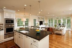 pictures of open floor plan kitchen living area | ... that delimitate the kitchen from the living room however the kitchen