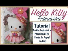 TUTORIAL HELLO KITTY. PORCELANA FRÍA, ARCILLA POLIMÉRICA, FONDANT O GOMA EVA MOLDEABLE. Diy muñecos. - YouTube