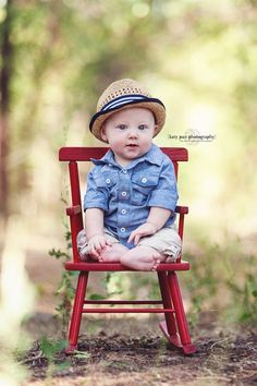 Love this! And, I have a couple cute chairs too try out:) Props to Katy Pair Photography | Baby Photography (remember baby safety - parent on one side!!!)