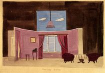 """II Picture,""  scenery design for the staging of ""Hard Times"", 1954"
