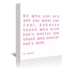 """East Urban Home 'Dr Seuss Quote Pink' by Indigo Sage Textual Art on Wrapped Canvas Size: 7"""" H x 5"""" W x 1"""" D"""