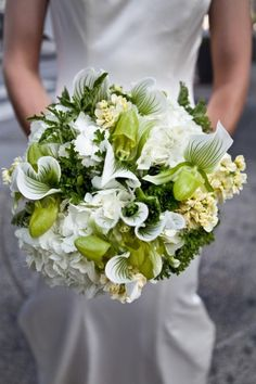 Stunning green and white bouquet