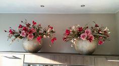 Zijde bloemen en decoratietakken www.decoratiestyling.nl