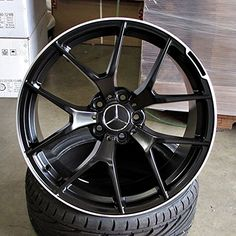 "[+]  New 19"" Staggared Mercedes AMG CLS63 Style Wheels With New 235/35/19 front and 265/30/19 rear Lizetti LZ2 Tires in Satin Black Machined Lip Finish 5x112 F +45 R +48 (set of 4) Rims and Tires Package Mounted and Balanced"