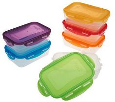 Lock U0026 Lock 6 Piece Multi Color Nestable Storage Set