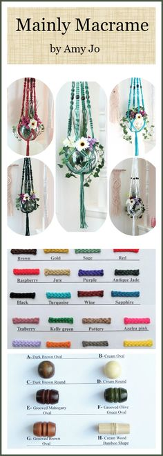 Do you have room for all of your plants?  If not, a plant hanger will solve your plant lover needs. Bohemian Macrame Plant Hangers, Large Macrame Hanging Planters, Large Plant Holders, Modern Macrame Plant Hangers, Long Pot Hanger, Colorful macrame plant hangers, choose colors and beads.
