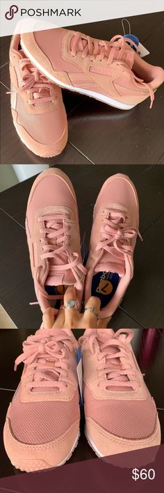 815bc4e874eb Reebok Classic Harman Run Womens Sneakers Reebok royal foamlite with  ortholite. Stylish creamy pink kicks