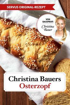 Ein Rezept, auf das sich Christina Bauer mit ihrer Familie das ganze Jahr über freut. Einen Osterzopf zu backen ist schon lange Tradition bei ihr. #osterzopf #osterzopfselberbacken #backenmitchristina #ostern #brauchtum #traditionellesessen #rezepte #rezept #rezeptideen #hausmannskost #ichliebeessen #österreich #österreichischeküche #kochen #regionaleküche #regionalkochen #servus #servusmagazin #servusinstadtundland Vegetarian Recipes, Brot, Kuchen, Good Food, Easter Activities