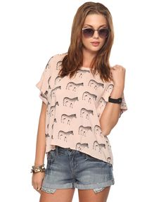 Zebra shirt. Obviously need in my life.