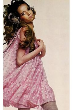 Veruschka, 1960s. This is the princess hair of my childhood dreams