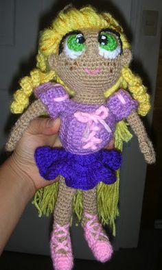 Rapunzel/ tangled amigurumi