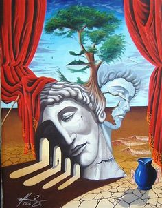 """The End of Play"" - Oil on canvas.    #art #painter #painting #surrealism"
