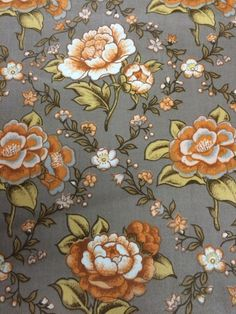 1980s Vintage Waverly Schumacher Floral Fabric by AnneStewartPage