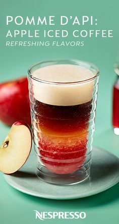 Who needs an apple a day when you can just sip on this Pomme D'Api: Apple Iced Coffee instead? A dash of apple juice adds a fresh fruit twist to this Nespresso recipe. Ideal for those warm spring and summer days, this refreshing drink is sure to be an instant favorite.