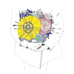 Art Et Illustration, Illustrations, Bouquet, Blog, Flower Tattoos, Art Inspo, Art Photography, Street Art, Artsy