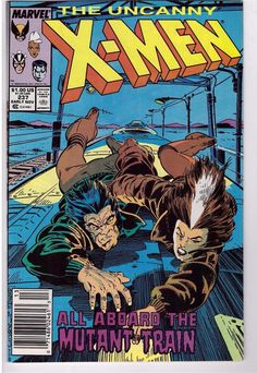 The Uncanny X-Men #237 Nov 1988 Marvel Comic Book Wolverine Aboard Mutant Train