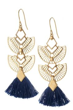 Why choose between gold chandelier earrings & gold tassel earrings? You can have both with tassel earrings that double as chandelier earrings at Stella & Dot.