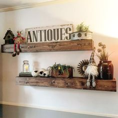 Floating shelves are a great way to display home decor, (we make that, too) family pictures and other odds and ends. Made from hand select reclaimed wood, reuse
