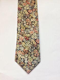 Floral tie Mens skinny tie wedding tie floral skinny tie