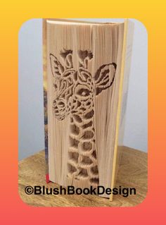Giraffe Book Folding Pattern PDF Digital Download by BlushBookDesign on Etsy Pattern Cutting, Pattern Art, Cut And Fold Books, Roses Book, Butterfly Books, Book Page Crafts, Magazine Crafts, Paper Chains, Book Folding Patterns