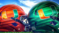 Miami Hurricanes New Helmets