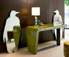 Mirror, mirror, on the wall, these funky cool mirrors by Italian company Creazioni are the trendiest of them all! The Pingui (penguin) and Orso (bear) mirrors boast a whimsical,...