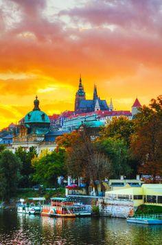 Pôr do Sol em Praga - República Checa