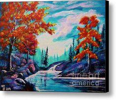 Dream Along The Riverside Print by Mario Lorenz alias MaLo Magic Blue Canvas Art, Canvas Prints, Got Print, Canvas Material, Unique Art, Fine Art America, Mario, Artsy, Framed Prints