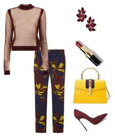 """""""Untitled #320"""" by arta13 on Polyvore featuring Marni, Maison Margiela, Gucci, Casadei and Bobbi Brown Cosmetics"""