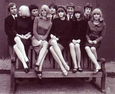 Mod guys and gals. A good example of how we really dressed and wore our hair in the 60s.