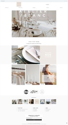 Atelier Blanc | Wedding Planner Minimal Web Design, Modern Web Design, Creative Web Design, Web Design Trends, Website Layout, Website Design Inspiration, Ecommerce, Email Design, French Websites