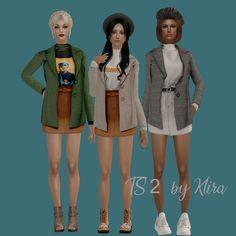 [Newen] Short Coat for Original. Sims 4 Mac, Sims 1, The Sims 2, Sims 4 Teen, Sims 3 Mods, Sims 2 Hair, Camo Bikini, Best Sims, New Mods