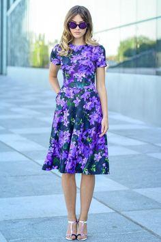078a8f42f42bd Purple Dress, Purple Clothing, Floral Dress, Summer Dress, Short Sleeved  Dress, Cocktail Dress, Plus