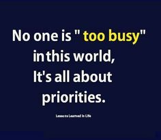 Nobodys too busy