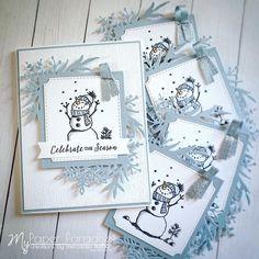 Schneemann - New Ideas Homemade Christmas Cards, Stampin Up Christmas, Christmas Cards To Make, Xmas Cards, Christmas Snowman, Homemade Cards, Handmade Christmas, Holiday Cards, Christmas 2019