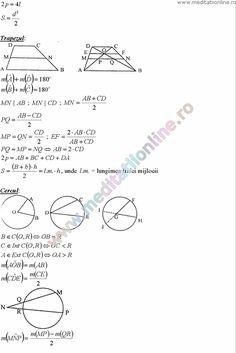 Formule matematica gimnaziu 5 8 Formule si teorie Geometrie plana si in spatiu si Trigonometrie pagina 10 Math Formulas, Desktop, Math Equations, Sport, Words, Geometry, Deporte, Maths Formulas, Sports