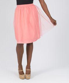 Coral Tulle Skirt #zulily #zulilyfinds
