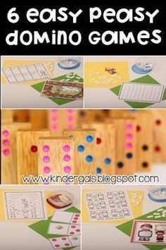 6 easy games you can play with your students using dominos! Great for centers or early finishers!