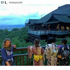 Wonderful Kriss Soonik wearing my Some Paradise Where Horses Go silk scarf in #kyoto #japan  #silkscarf #scarves #adventures #aroundtheworld #scarfenture #artscarves #travel #letshavefun #katlinkaljuveescarves