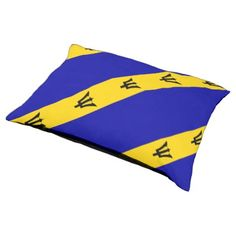 #Barbados flag pet bed - cyo customize do it yourself diy