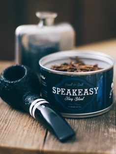 Handsome, High-Quality Pipe with Tobacco Tin Tobacco Smoking, Cigar Smoking, Smoking Pipes, Smoking Wood, Pipes And Cigars, Cigars And Whiskey, Tobacco Shop, Tobacco Pipes, Smoking Effects