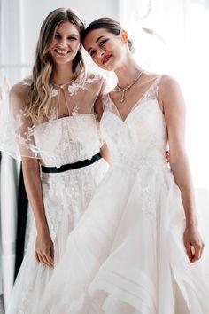 Our recap of the David's Bridal Spring 2018 presentation of wedding gowns from Zac Posen, Oleg Cassini, Melissa Sweet, Galina, DB Studio and David's Bridal.