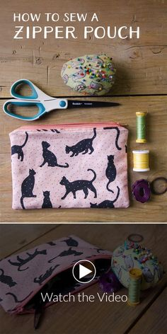Looking for the perfect pouch for cosmetics, pencils or any small secret stash? Create your own using Sprout Patterns Lined Zipper Pouch pattern and this video tutorial!  This project is great practice for putting in zippers, but it's also simple to creat