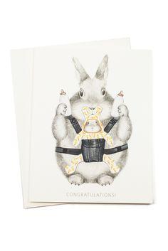 Congrats Bunny Baby Card! I love this locked and loaded bunny mom motif ;-P