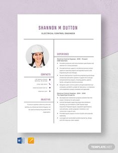 FREE Electrical Engineer Fresher Resume Template - Word (DOC) | PSD | InDesign | Apple (MAC) Apple (MAC) Pages | Publisher | Illustrator | Template.net Company Letterhead Template, Resume Design Template, Cv Template, Resume Templates, Cv Design, Resume Cv, Word Doc, Electrical Engineering, Business Design