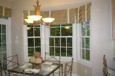 Bay window, roman valance,