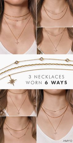Discover the first of it's kind, patented connectors made for you to layer with ease. Switch layers, change lengths and mix pieces for multiple looks! See how to layer like a pro.